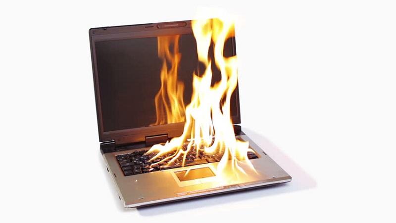 Laptop wordt heet